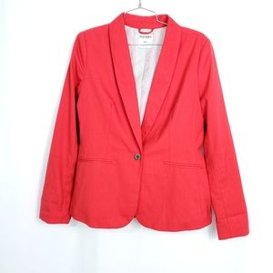 Old Navy Red Drapey Aloud Blazer